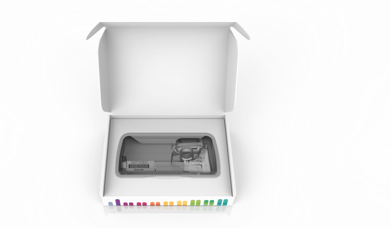 open 23andMe DNA test kit