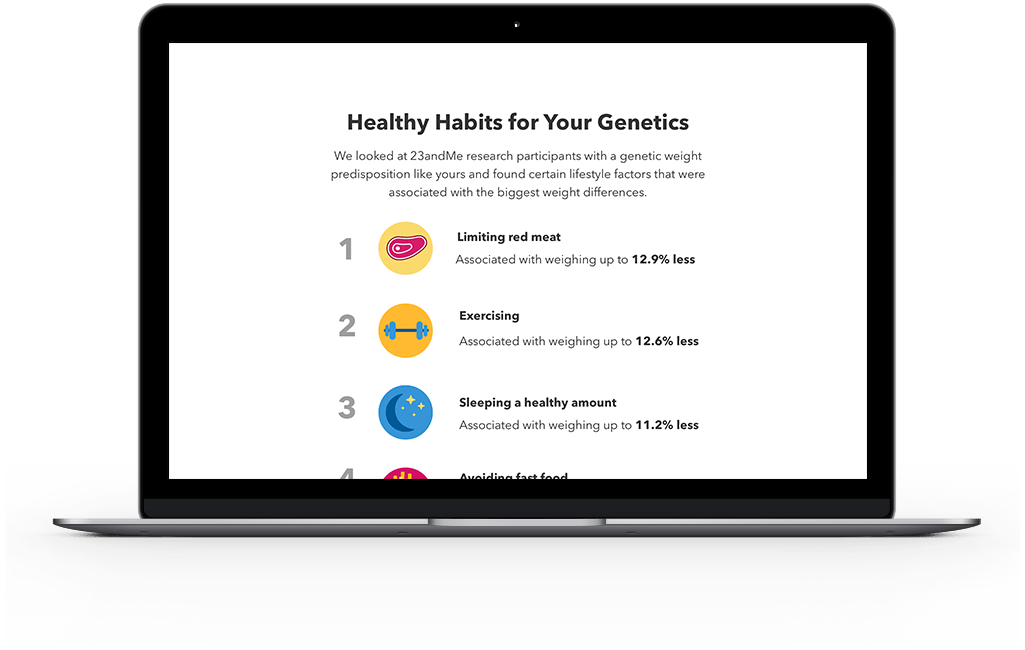 List of healthy habits based off someone's genetics